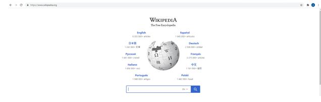 Go to Wikipedia Homepage