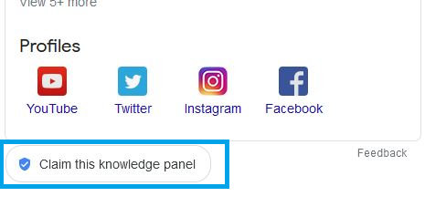 knowledge pannel
