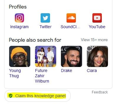 claim this knowledge panel
