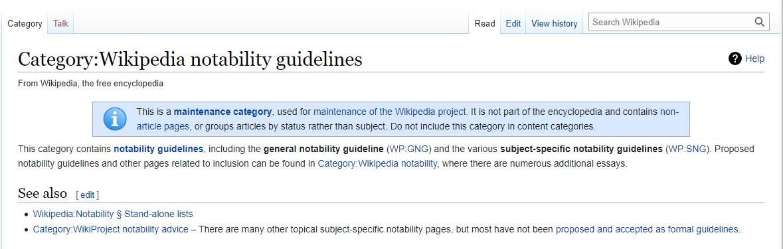 wikipedia notability